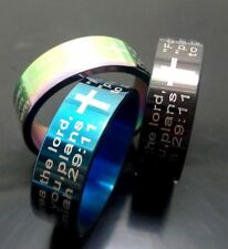 100 Bible Verse Jeremiah Prayer Stainless steel christian Ring religious Jewelry