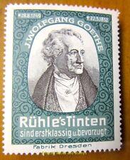 Cinderella/Poster Stamp Germany 1900s Rühle's Tinten - Goethe - 265