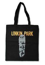LINKIN PARK SKULLS BLACK TOTE BAG NEW OFFICIAL BAND MUSIC