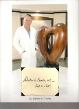 Dr. Denton Cooley - Autograph First Artificial Heart Transplant Surgeon #1