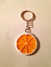 Summer Citrus Fruit Orange Slice Keyring Dance Festivals
