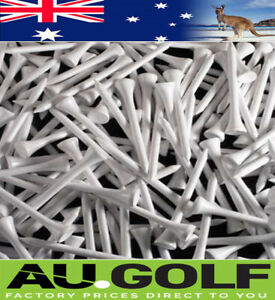 1000 - White Wood / WOODEN GOLF TEES 83 mm - Pro Shop Special - Hi Quality