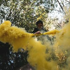 Dual Vent Burst Style Yellow Smoke Grenade Airsoft Paintball Photography
