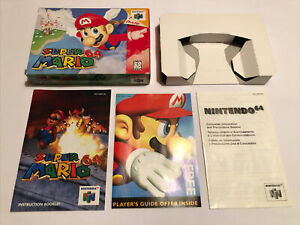 Vintage 1996 AUTHENTIC OG Nintendo N64 Super Mario 64 Box Manual/Inserts ONLY