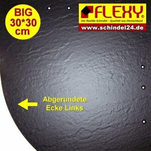 100 Flexy BIG Schindeln links schwarz matt Struktur  (Kunststoff)