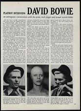 1976 David Bowie Playboy Interview 10 Page Magazine Article - Ziggy Stardust