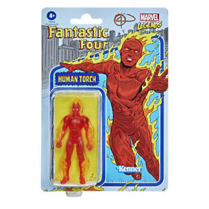 "Marvel Legends RETRO COLLECTION 3.75"" WAVE 1 - Human Torch (Johnny Storm)"