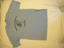 New Mens Blue Dancing Dog Tshirt L 42-44 Stedman Cotton