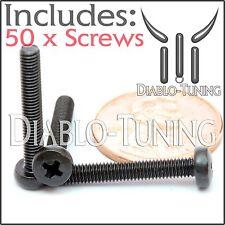 M3 x 20mm - Qty 50 - Phillips Pan Head Machine Screws - DIN 7985 A - Black Steel
