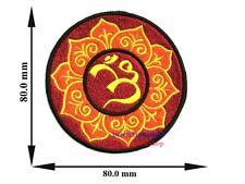 AUM OM HINDU INDIAN IRON ON PATCH T-SHIRT JEANS HAT CAP APPLIQUE O-006