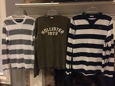 M Abercrombie & Fitch American Eagle Hollister Long Sleeve T-Shirts Men LOT OF 3