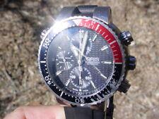Oris TT1 Diving Chronograph 1000 Meters, Titanium Case 7599, Orig. Rubber Strap.