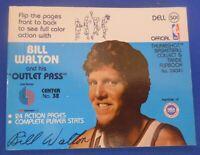 "BILL WALTON 1977 Dell Flip Book ""Outlet Pass"" ex/nm) Portland Trail Blazers"