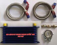 Kit radiateur d'huile universel 10 rangées avec durites renforcées tressées