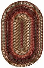 Capel Rugs Portland Wool Casual Country Braided Oval Area Rug Mocha 700