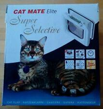 Cat Mate Elite Super Selective Cat Door With Timer Control New