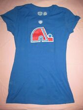 QUEBEC NORDIQUES Retro Distressed blue t shirt OTH Old Time Hockey Juniors M Med