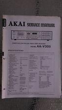 Akai aa-v205 L service manual original repair book stereo tuner receiver radio