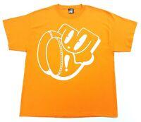 Vintage Moody Mutz NYC Tee Orange Size XL Mens T Shirt Graffiti
