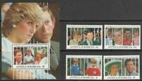 Antique Vintage Mail Yvert 1346/49 + Hb 201 MNH Diana Of Wales