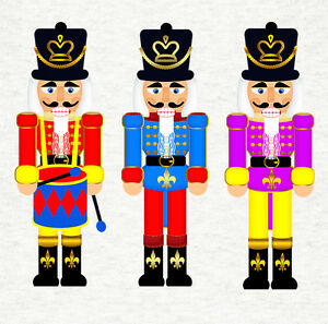 Christmas -Nutcracker Soldier Fabric Craft Panels in 100% Cotton or Polyester