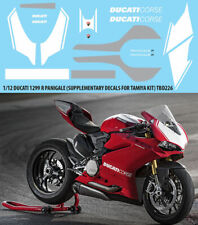 1/12 DUCATI 1299 R PANIGALE CONVERSION TAMIYA DECALS TB DECAL TBD226