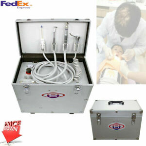Best Portable Mobile Dental Unit BD-402 with Air Compressor Suction System 4Hole