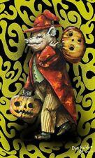 Magic Fantasy The Wizard of Swinesylvania Signed Numbered Halloween Postcard