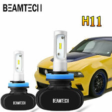 BEAMTECH H11 H9 H8 LED Headlight Kit 8000LM 50W 6500K Low Beam Bulbs Philips CSP