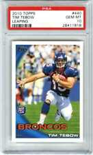TIM TEBOW~2010 TOPPS LEAPING POSE #440 PSA-10 GEM-MT NFL FOOTBALL ROOKIE RC CARD
