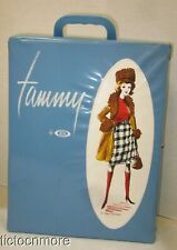 VINTAGE IDEAL TAMMY DOLL TRUNK CASE BLUE ON THE AVENUE FASHION SET RARE NICE!!