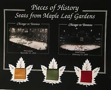 TORONTO MAPLE LEAFS FIRST AND LAST GAME MAPLE LEAF GARDEN 8 X 10 WITH SEAT COA