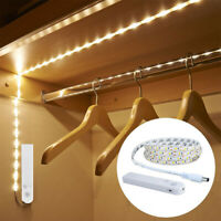 Wireless PIR Motion Sensor LED Strip Lamp Bed Cabinet Closet Stairs Night Light