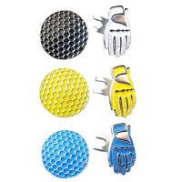 Golf Hut Cap Clip Abnehmbarer Metall Golf Ball Marker-Set Golfzubehör Sonst E8V3