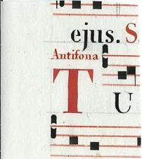 Manoscritto antico CAPOLETTERA T rosso ANTIFONARIO MUSICA 1850 ca. Drop Cap