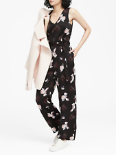 57b653808071 Banana Republic Floral V-Neck Wide-Leg Jumpsuit 6T 6 Tall