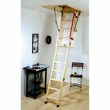 YOUNGMAN Wooden Timber Folding Loft Ladder & Frame / Hatch & Handrail Eco S Line
