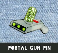 PORTAL GUN SOFT HARD ENAMEL LAPEL PIN - RICK MORTY GIFT BIRTHDAY METAL BADGE ART