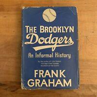 1945 The Brooklyn Dodgers Frank Graham Vtg HC/DJ 1st Baseball