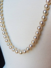 Akoya Cultured Pearl 8mm White Top AAA Quality Opera Length Endless Strand 34""