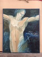 Filip Köllö Bulgaria? - Oil Painting - Modern Type - Kreuzigumg? 26X22in