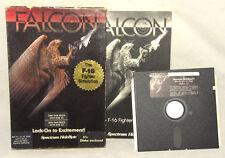 FALCON - Vintage - IBM/PC - 5.25 F-16 Flight Sim Computer Game Spectrum HoloByte