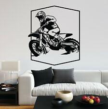Motocross Dirt Bike Motorcycle Rider Sport Vinyl Decal Wall Art Sticker Home Uk