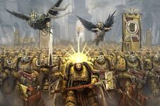 Warhammer 40k - Space Marine Fighting TV Game Art Silk Poster 24x36inch