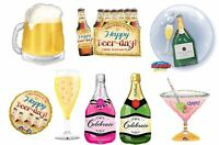 FOIL Shape Champagne Beer Cocktail Celebration Glass Bottle HELIUM Fill BALLOON