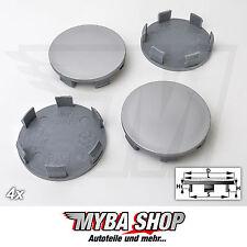 4x Tapacubos Plano hub cap 58mm Buje de rueda llantas tapa en gris NUEVO #