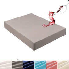 Mecerock 6 Colors Twin Waterproof Mattress Pad Protector Cover Fitted to 18""