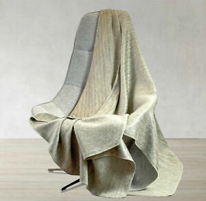 Soft and Warm ALPACA Wool Throw Blanket plain solid couch sofa queen bed cover