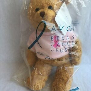 Avon Breast Cancer Crusade Stuffed Bear Pink Ribbon Product Plush Toy Unopened