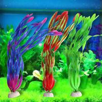Artificial Fake Plastic Fish Tank Plants Aquarium Landscape Decor Ornament GO9X